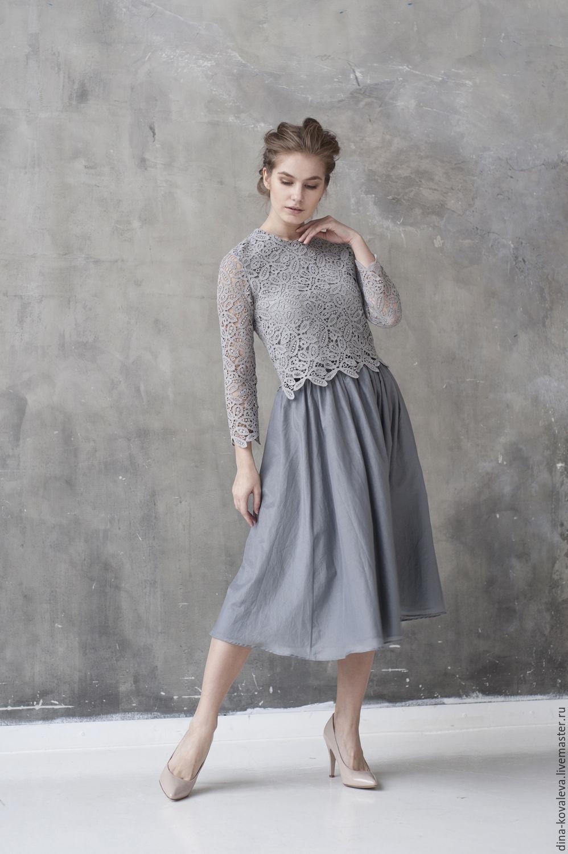 Купить кружевные платья и блузки