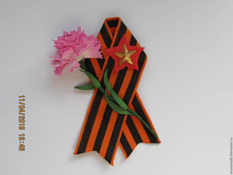 Цветы из фетра на открытку к 9 мая
