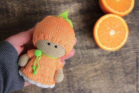 Человечки ручной работы. Ярмарка Мастеров - ручная работа. Купить Апельсинка.. Handmade. Рыжий, Вязание крючком, вязаное платье