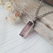 Украшения handmade. Livemaster - original item Silver pendant with tourmaline.. Handmade.