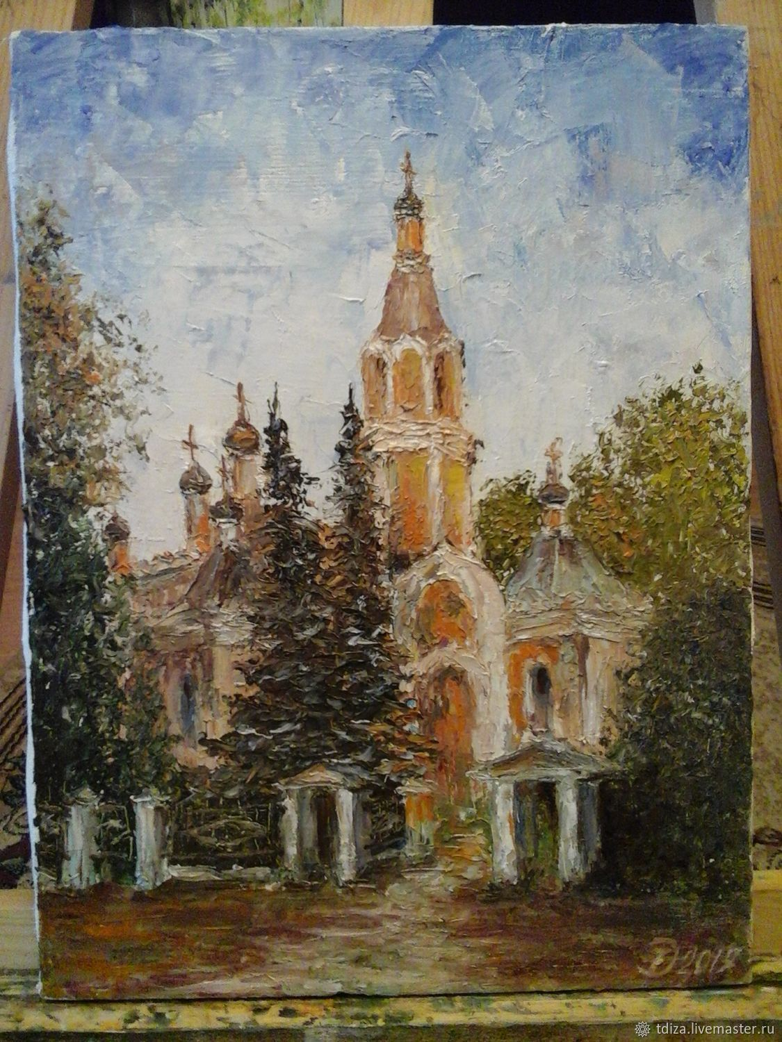 Painting: oil on canvas St. Nicholas Church, Pictures, Solnechnogorsk,  Фото №1