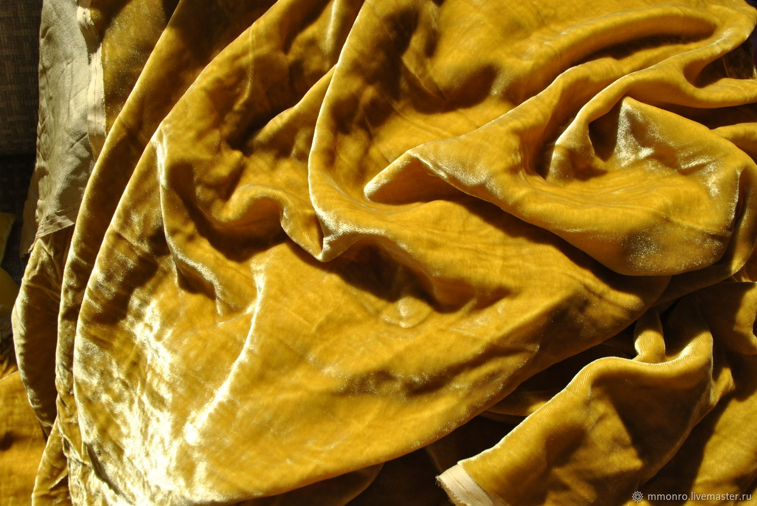 Flaps, trim, pieces 100% silk velvet. In stock, Fabric, Podolsk,  Фото №1