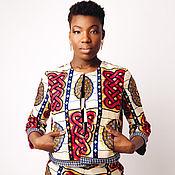 Одежда ручной работы. Ярмарка Мастеров - ручная работа Супер стильный и яркий жакет с африканским принтом. Handmade.