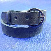 Украшения handmade. Livemaster - original item A leather bracelet winding on the buckle Traces of crow. Handmade.