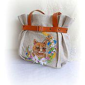Сумки и аксессуары handmade. Livemaster - original item Bright summer Bag handmade with a cat. Handmade.