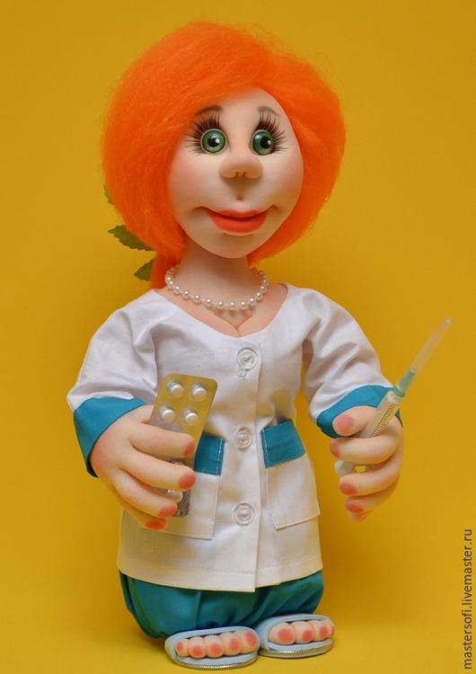 """Человечки ручной работы. Ярмарка Мастеров - ручная работа. Купить Кукла """"Мед сестричка......медсестра"""" (№3) Скульптурный текстиль. Handmade."""