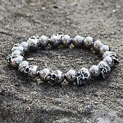 Украшения handmade. Livemaster - original item Bracelet with skulls from jewelry steel unisex. Handmade.