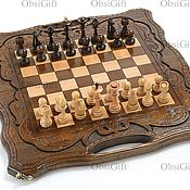 Активный отдых и развлечения handmade. Livemaster - original item A wooden chess game
