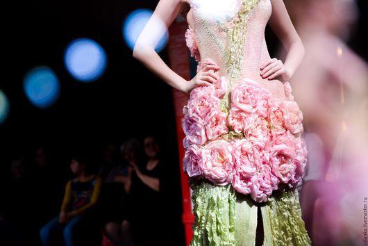 Платья ручной работы. Ярмарка Мастеров - ручная работа. Купить Платье Вдохновение. Handmade. Бледно-розовый, нунофелтинг