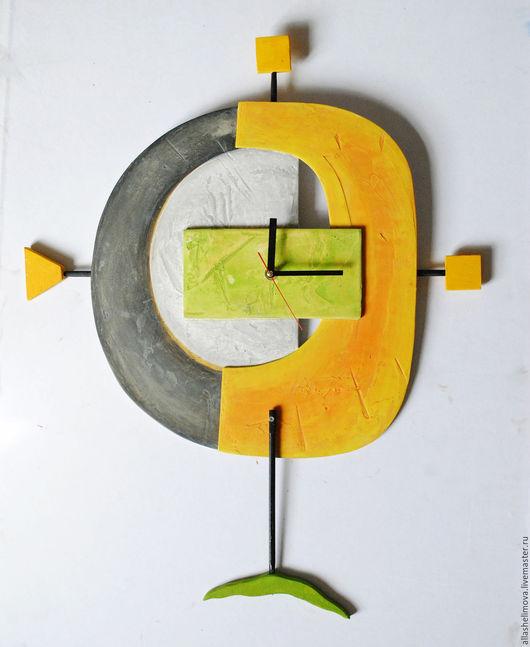 Часы-рельеф Желтый песок