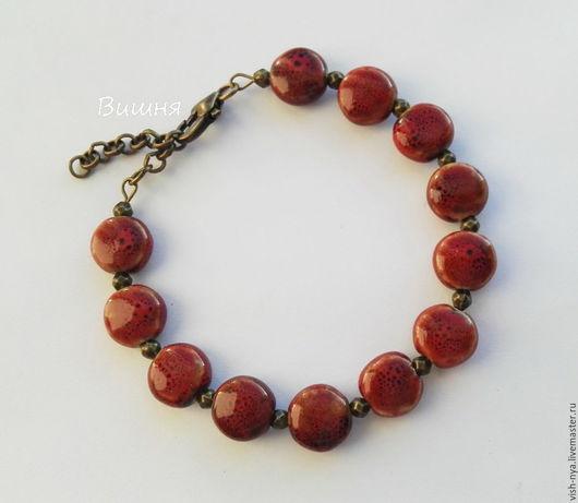 """Браслеты ручной работы. Ярмарка Мастеров - ручная работа. Купить Браслет """"Berries"""". Handmade. Бордовый, ягоды, ягодный, ягодный браслет"""