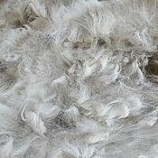 Материалы для творчества handmade. Livemaster - original item Alpaca Waka white #1282. Handmade.