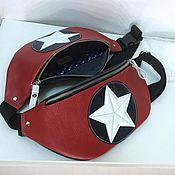 Поясная сумка ручной работы. Ярмарка Мастеров - ручная работа Капитан АМЕРИКА сумка поясная. Handmade.