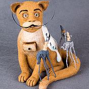Куклы и игрушки ручной работы. Ярмарка Мастеров - ручная работа Кот Сальвадор (по мотивам Дали). Handmade.