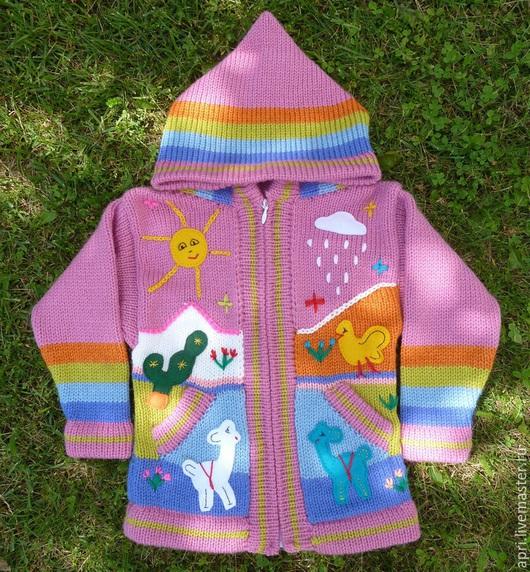Одежда для девочек, ручной работы. Ярмарка Мастеров - ручная работа. Купить Кофточка ярко розовая. Handmade. Фуксия, детская кофта