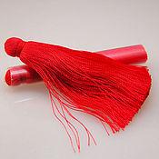 Материалы для творчества ручной работы. Ярмарка Мастеров - ручная работа Кисточки для серег - красный. Handmade.