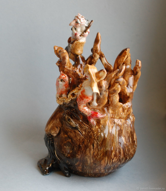 Лукоморье. Скульптурная ваза
