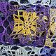 Палантин `Весенний калейдоскоп-2` кружево, хлопок, шерсть, шелк, мозаика, 8 марта, весна, ван гог