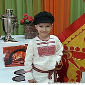Одежда handmade. Livemaster - original item Shirt for boys.Russian. Handmade.
