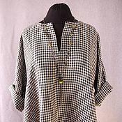 Одежда handmade. Livemaster - original item Dress tunic natural linen and cotton boho style.. Handmade.