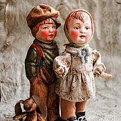 Куклы и игрушки ручной работы. Ярмарка Мастеров - ручная работа Ретро-инсталляция из антикварных деталей. Защитник.. Handmade.