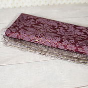 Для дома и интерьера handmade. Livemaster - original item Tablecloth the Color of red wine - Bordeaux. Handmade.