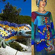 """Одежда ручной работы. Ярмарка Мастеров - ручная работа Платье -джемпер """"Саламандра Гауди"""". Handmade."""