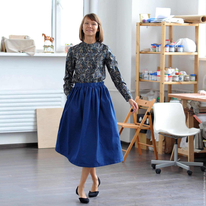 Джинсовая юбка пышная фото