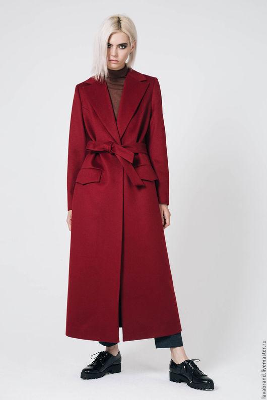 Верхняя одежда ручной работы. Ярмарка Мастеров - ручная работа. Купить Пальто Бордо. Handmade. Бордовый, шерсть