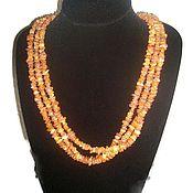 Украшения handmade. Livemaster - original item Health Raw Amber stone necklace adult Baltic amber jewelry Boho. Handmade.