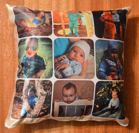Персональные подарки ручной работы. Ярмарка Мастеров - ручная работа. Купить Подушка с фотографией подарок маме подарок на день рождения ребенка. Handmade.