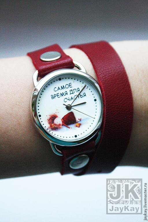 """Часы ручной работы. Ярмарка Мастеров - ручная работа. Купить Часы наручные JK """"Счастье"""" на длинном ремешке. Handmade."""