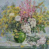 """Картины и панно ручной работы. Ярмарка Мастеров - ручная работа """" Полевые цветы"""". Handmade."""