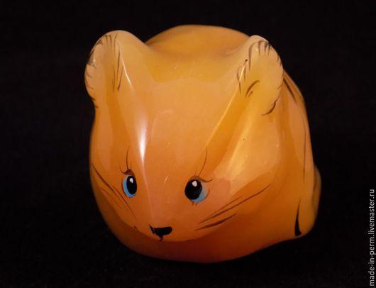 Персональные подарки ручной работы. Ярмарка Мастеров - ручная работа. Купить Мышка - фигурка из камня Селенит. Handmade. Фигурка, мышка