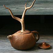 Посуда ручной работы. Ярмарка Мастеров - ручная работа Чайник Засуха. Двушляпен.. Handmade.