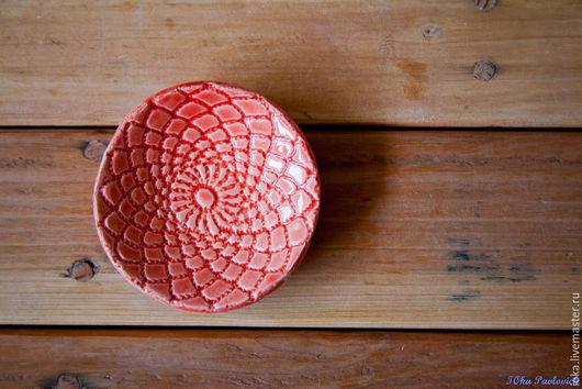 Тарелки ручной работы. Ярмарка Мастеров - ручная работа. Купить Кружевные тарелочки. Handmade. Разноцветный, розовый, тарелка ручной работы