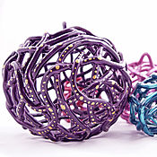Сувениры и подарки handmade. Livemaster - original item Bell - Christmas ball Purple. Handmade.