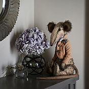 Мягкие игрушки ручной работы. Ярмарка Мастеров - ручная работа Крыс Триша. 30 см в полный рост/25 см сидя. Handmade.