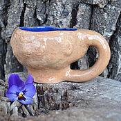 Посуда ручной работы. Ярмарка Мастеров - ручная работа Кружка керамическая синяя. Handmade.