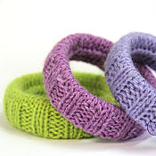 Украшения handmade. Livemaster - original item Knit bangles (set of 3 PCs). Handmade.