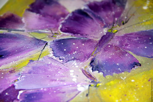 Животные ручной работы. Ярмарка Мастеров - ручная работа. Купить Бабочки фиолет. Handmade. Тёмно-фиолетовый, фиолет, мотельки, холст