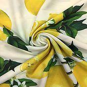 """Материалы для творчества ручной работы. Ярмарка Мастеров - ручная работа 105601 мягкая плательная ткань """"лимоны"""". Handmade."""