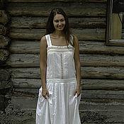 Одежда ручной работы. Ярмарка Мастеров - ручная работа Белое платье в стиле бохо. Handmade.