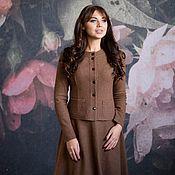 Одежда ручной работы. Ярмарка Мастеров - ручная работа Костюм look 686 (коричневый). Handmade.