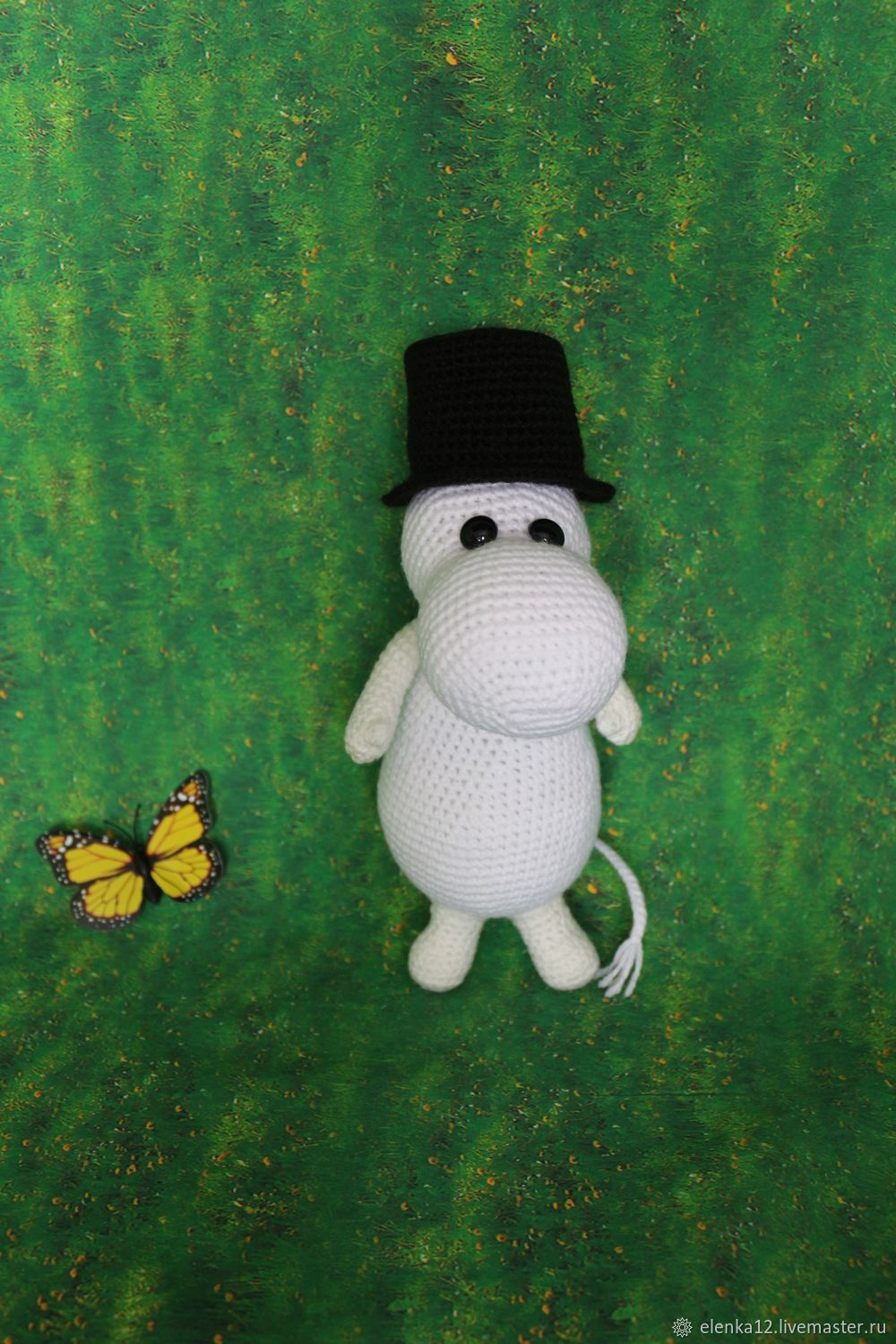 Moomintroll knitted toy, Stuffed Toys, St. Petersburg,  Фото №1