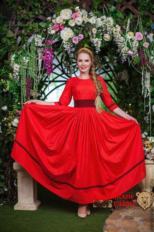 """Платья ручной работы. Ярмарка Мастеров - ручная работа. Купить Платье """"Надежда"""". Handmade. Однотонный, красное, вечернее, на бал"""