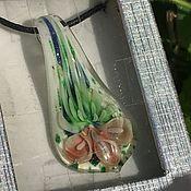 Винтаж handmade. Livemaster - original item Pendant, pink Anthurium pendant, Murano, Italy. Handmade.