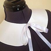 Аксессуары handmade. Livemaster - original item Collar white satin. Handmade.