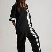 Одежда handmade. Livemaster - original item Summer, cotton jumpsuit - JP0388W2. Handmade.