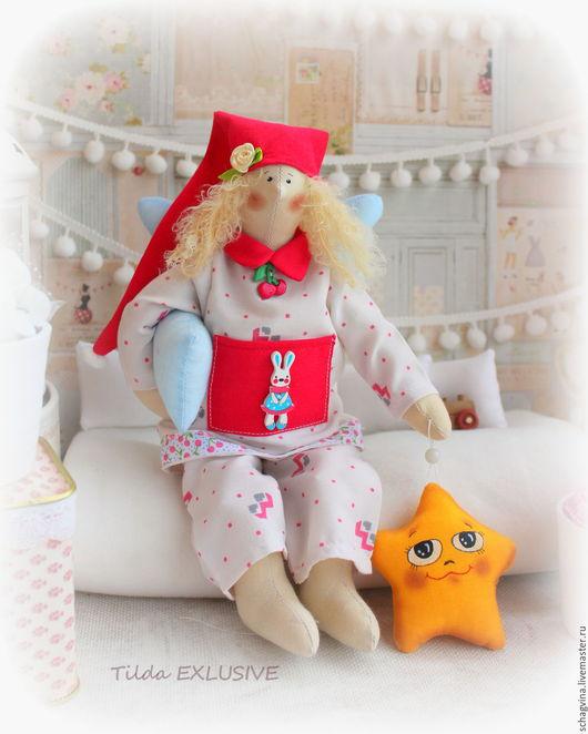 Куклы Тильды ручной работы. Ярмарка Мастеров - ручная работа. Купить Сонный ангел Вишенка +Звездочка. Handmade. Сонный ангел
